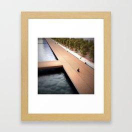 Bike Path Mini Framed Art Print