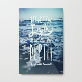 Depth x Ocean Metal Print