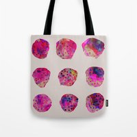 georgiana paraschiv Tote Bags featuring Variations by Georgiana Paraschiv
