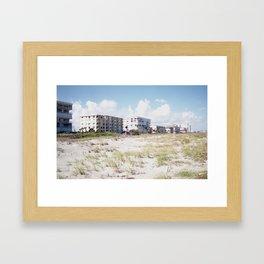 Condo Beach Framed Art Print