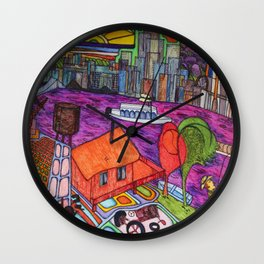 "One of my ""Old Man River"" dreams (My dreams of America, part4) Wall Clock"