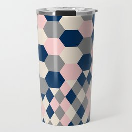 Honeycomb Blush and Grey Travel Mug