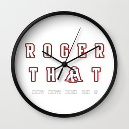 Roger That Wall Clock