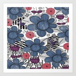 Whimsical Floral Pattern Art Print
