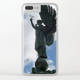 Angel of Peace Clear iPhone Case