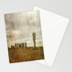 Nine Silos a Tank and a Tree Stationery Cards