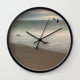 Seaside Escape Ocean Seaside Beach Neutral Postcards Fine Art Prints Gifts Wall Clock