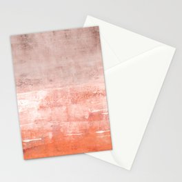 soft coral Stationery Cards