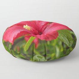 Flower in the Rain Floor Pillow
