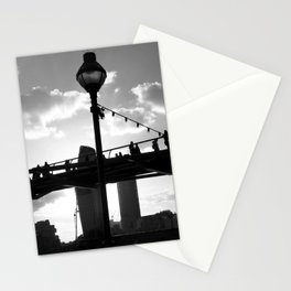 Millennium Bridge Silhouette, London Stationery Cards