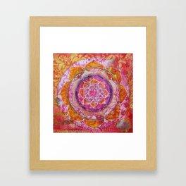 Creative Glow Mandala Framed Art Print