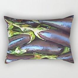 Artistic Eggplants Black Outline Art Rectangular Pillow