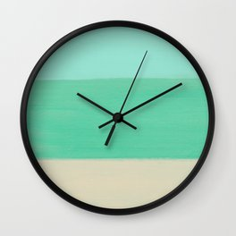 Emerald Ocean Wall Clock
