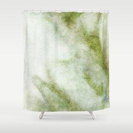 stained fantasy greenish veins Shower Curtain
