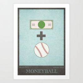 Moneyball - minimal poster Art Print
