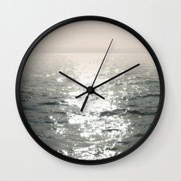 Waterscape. Reflected Sunbeams Wall Clock