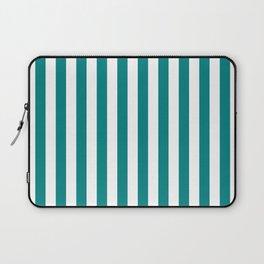 Vertical Stripes (Teal/White) Laptop Sleeve