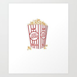 Foodie Popcorn Whats Poppin Art Print
