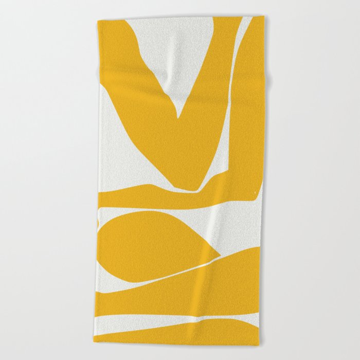 Yellow anatomy Beach Towel