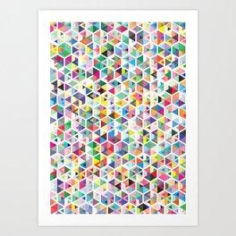 Cuben Colour Craze Art Print