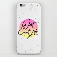 west coast iPhone & iPod Skins featuring West coast life by Hanna Kastl-Lungberg