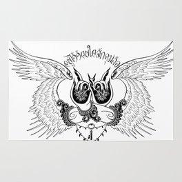 wings of awareness Rug