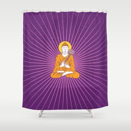 urban yoga Shower Curtain