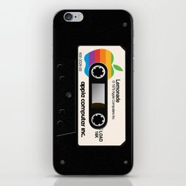 Apple and Lemonade black iPhone Skin