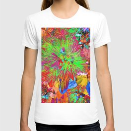 """ Kiwi Lifestyle"" - Pohutukawa NZ Bloom- Pop ART T-shirt"