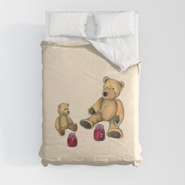 Bears at picnic Comforters