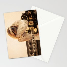 Rockstar Sloth Stationery Cards