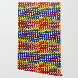 LGBTQ Rainbow Lips Wallpaper