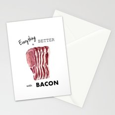 Everything is better with Bacon Stationery Cards