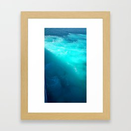 sea of blue Framed Art Print