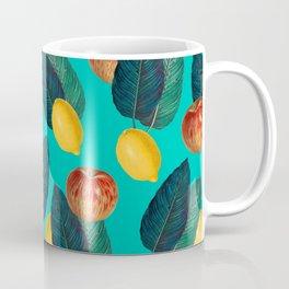 Apples And Lemons Teal Coffee Mug