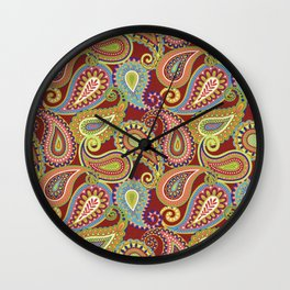 Crazee Paisleez Wall Clock