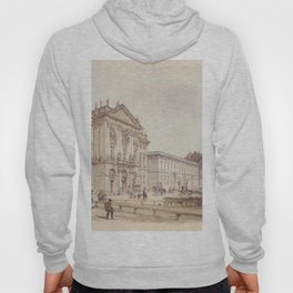 Trautson Palace In Vienna 1845 by Rudolf von Alt | Reproduction Hoody