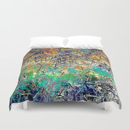 Modern Etching Abstract Design Duvet Cover