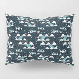 narwhal in ocean blue Pillow Sham