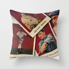 When Sports had Heroes Throw Pillow