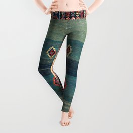 Sivas Antique Turkish Niche Kilim Print Leggings