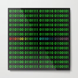 Binary - Love - LBGTQA Metal Print