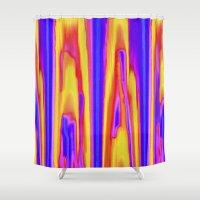 tie dye Shower Curtains featuring Tie Dye Sky by Vikki Salmela