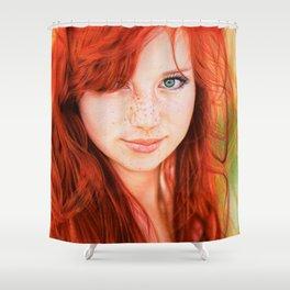 Redhead Girl Shower Curtain