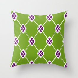 Greany Beany Throw Pillow