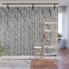 A Veil Of Hanging Metal Chains In Black And White Wall Mural