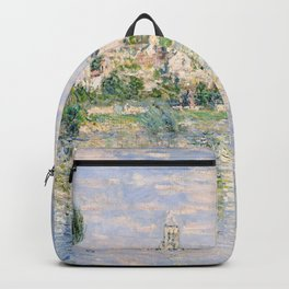 Vetheuil in Summer 1880 by Claude Monet Backpack