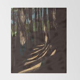 Path Through the Redwoods Throw Blanket