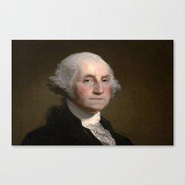 Portrait of George Washington by Gilbert Stuart Williamstown Canvas Print
