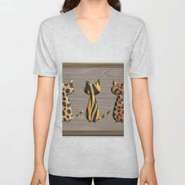 Wild Cats on Safari Unisex V-Neck
